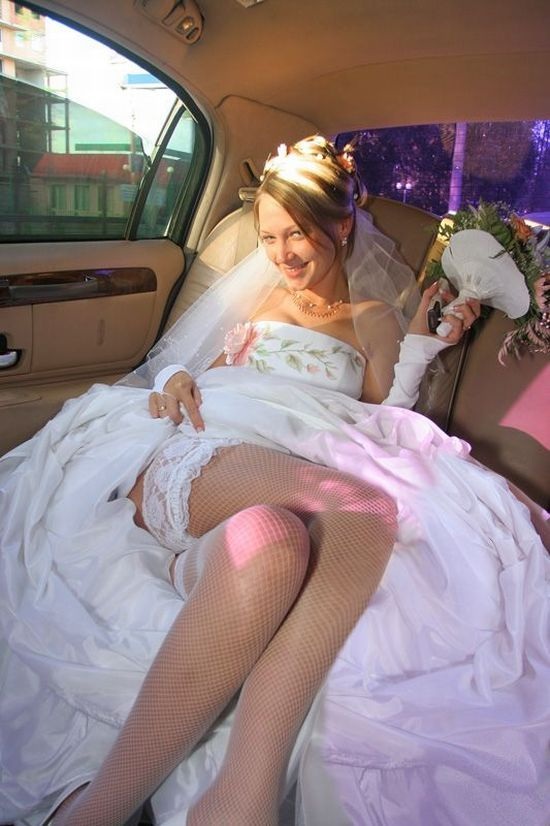 Bride nude in car, how to take a strap on in the ass